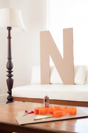 DIY Giant Fringe Monogram