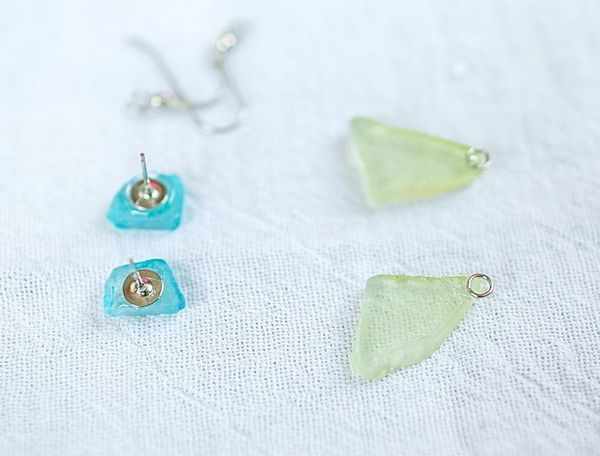 DIY Sea Glass earrings