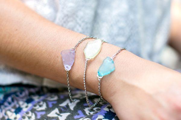 DIY Bracelet + Earrings