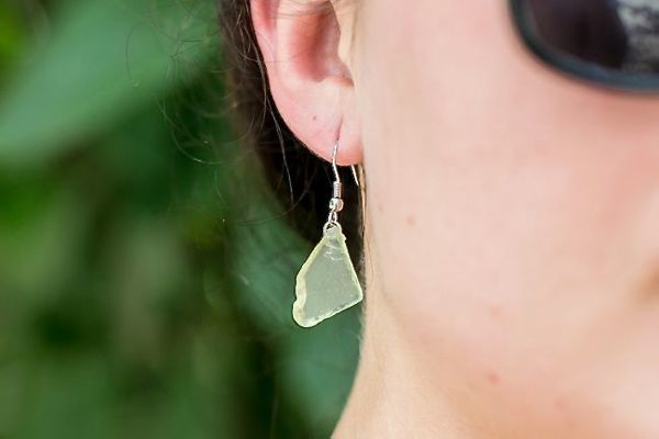 DIY Earrings with Sea Glass