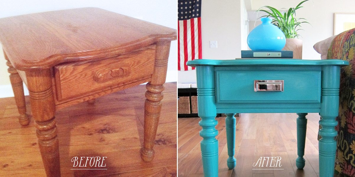 How To Paint Furniture DIY Painted End Tables The Sweetest Occasion