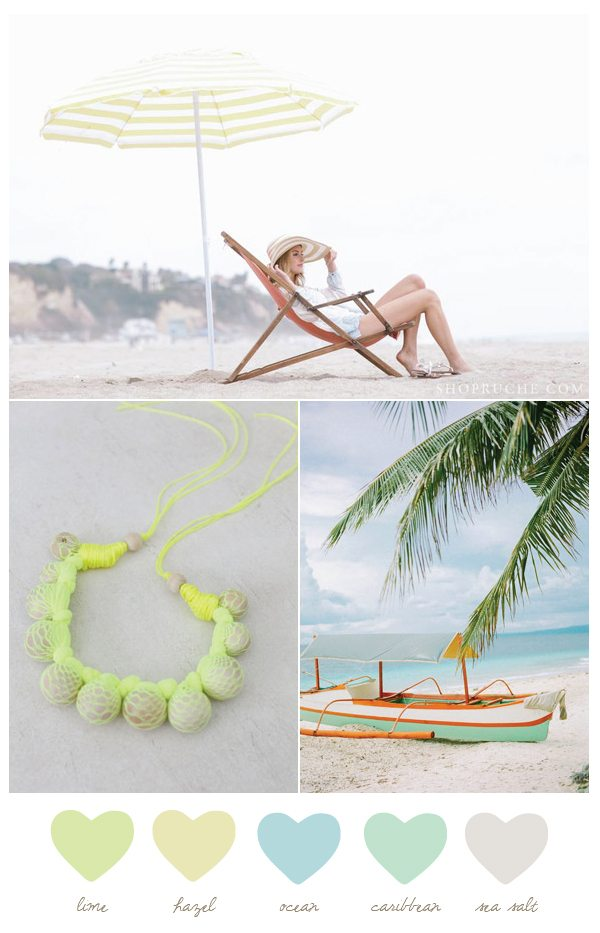 Color Palette: Lime + Ocean