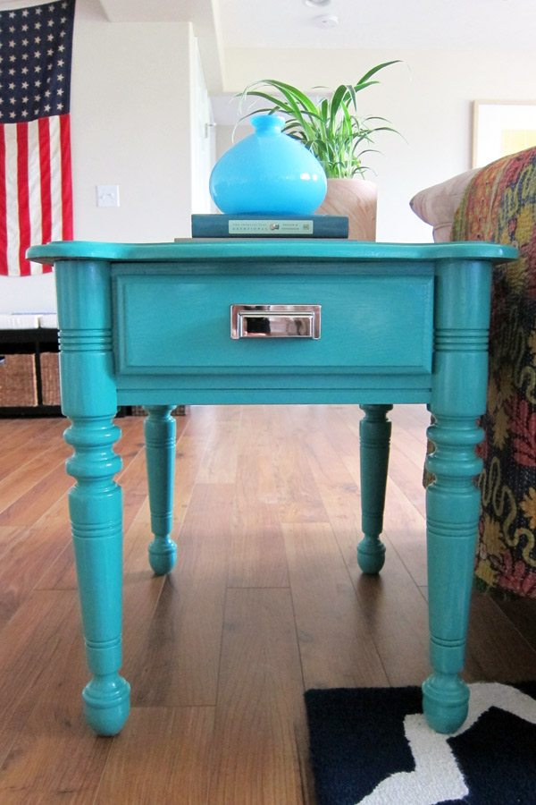 How To Paint Furniture: DIY Painted End Tables - The Sweetest Occasion ...