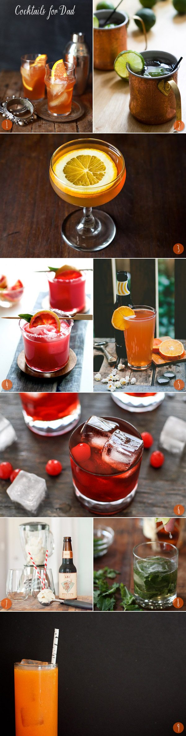 Cocktails for Dads - The Sweetest Occasion