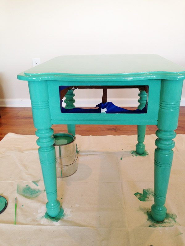 how to paint furniture diy painted end tables the sweetest occasion. Black Bedroom Furniture Sets. Home Design Ideas