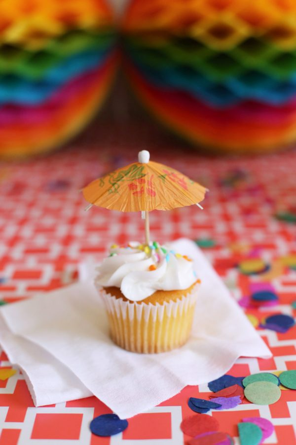 Paper Parasol Cupcake Toppers