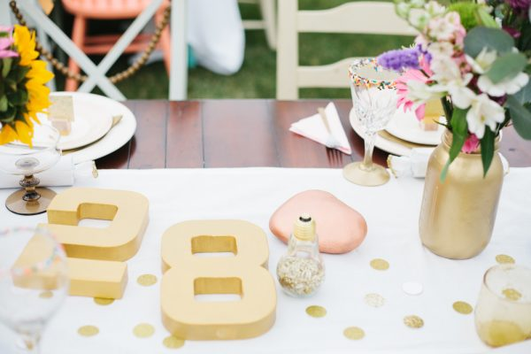 Elegant Gold + White Birthday Party
