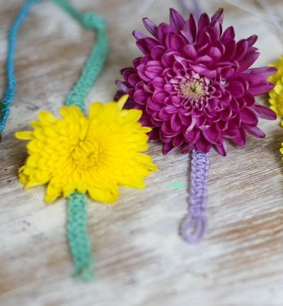 DIY Fresh Flower Macrame Bracelet thumbnail