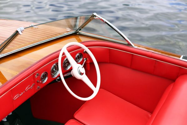 Antique Chris-Craft | Photo by Cyd Converse of The Sweetest Occasion