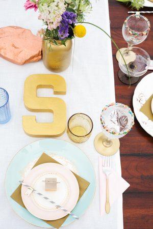 Elegant Gold + White Birthday Party
