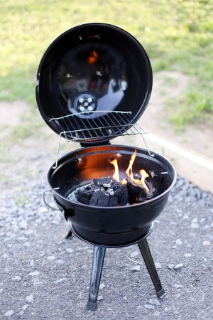 Mini Charcoal Grill | Photo by Cyd Converse of The Sweetest Occasion