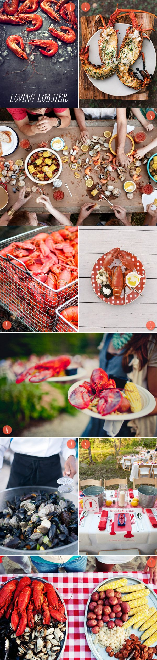 Summer Lobster Boil Inspiration