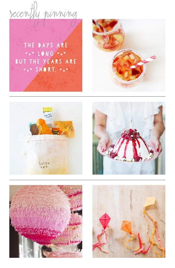 Recently Pinning: Summery + Fruity