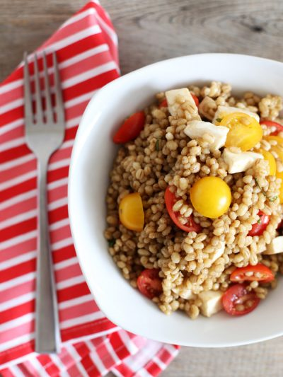 Tomato + Mozzarella Barley Salad thumbnail