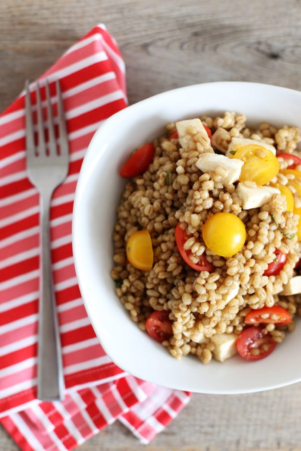 Tomato and Mozzarella Barley Salad