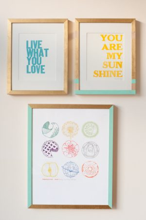 DIY Painted Frame Gallery Wall | The Sweetest Occasion