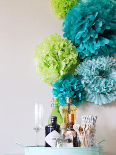 DIY Tissue Paper Pom Poms Backdrop thumbnail