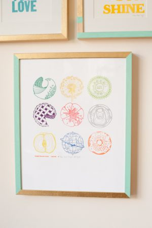 DIY Painted Frame Gallery Wall   The Sweetest Occasion