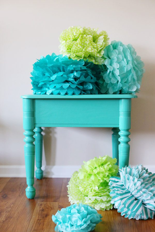 Diy Tissue Paper Pom Poms Backdrop