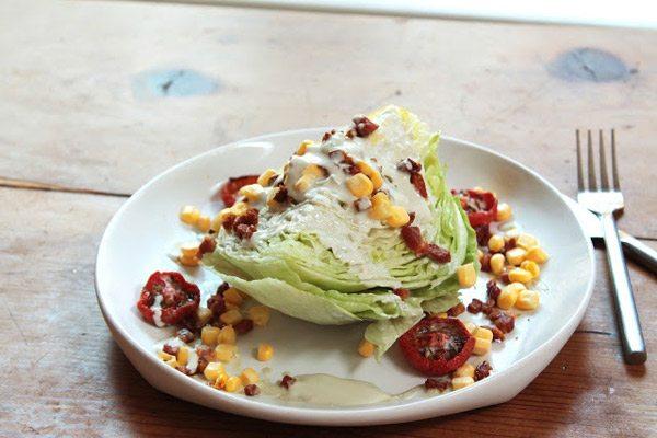Corn and Roasted Tomato Wedge Salad