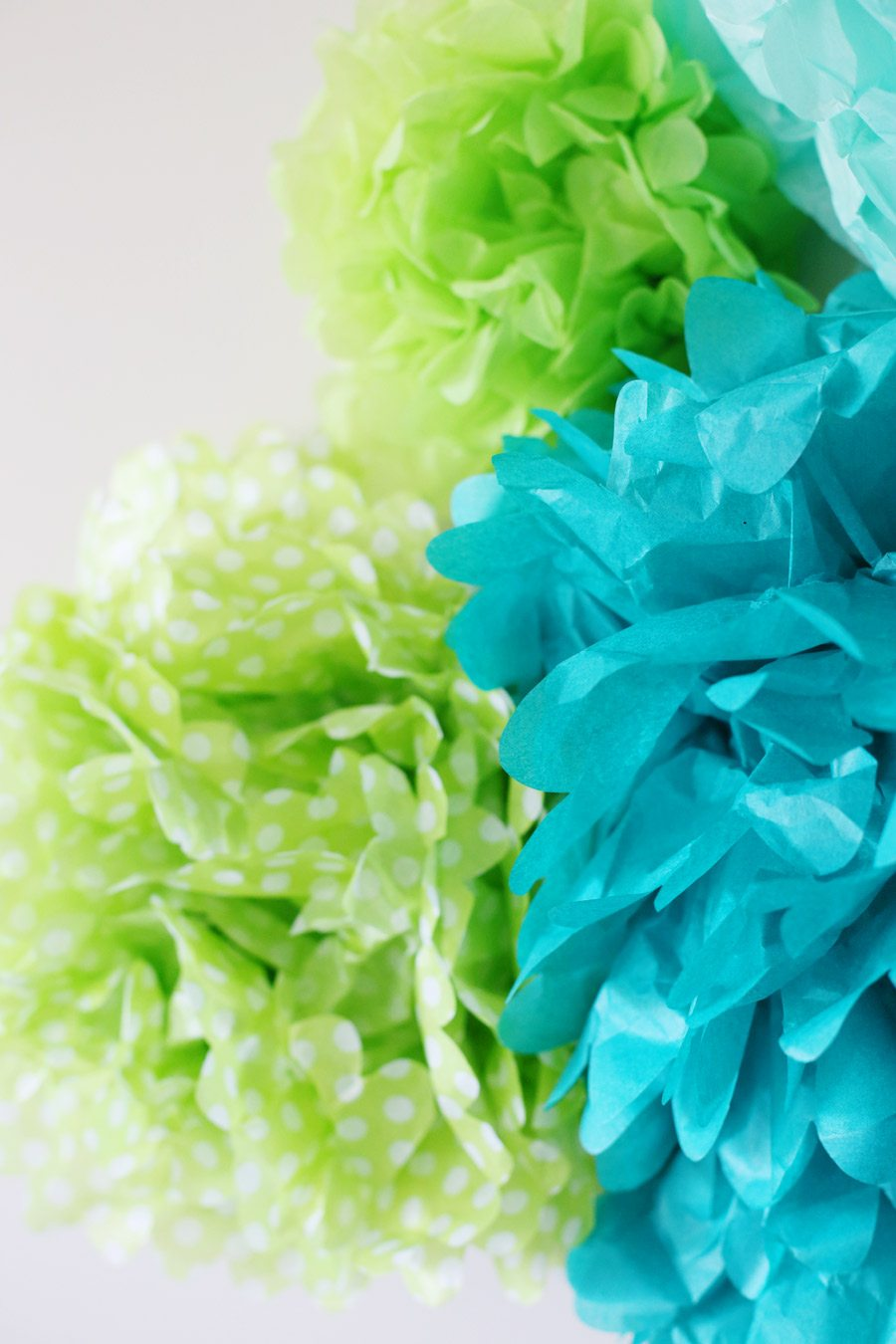 Diy Tissue Paper Pom Poms Backdrop The Sweetest Occasion