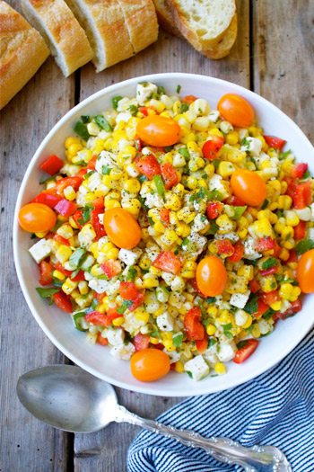 Tomato and Corn Salad with Feta