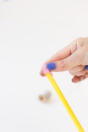 DIY Pencil Drink Stirrers Step 4