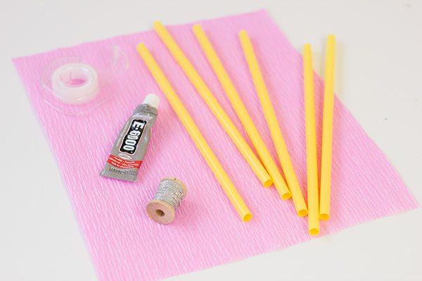 DIY Pencil Drink Stirrers Supplies