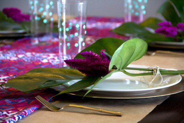 DIY Floral Place Settings | The Sweetest Occasion