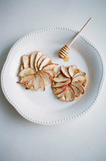 Apple Honey Goat Cheese Tartlets