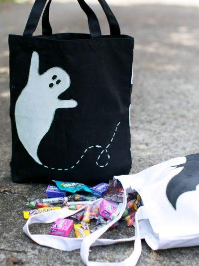 DIY Glow in the Dark Trick or Treat Bags thumbnail