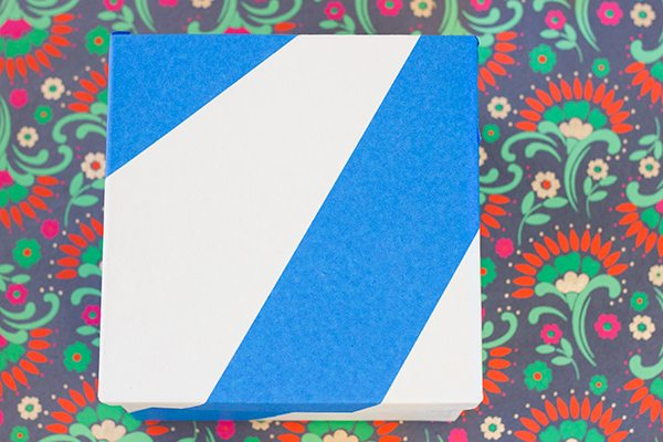 DIY Color Blocked Gift Boxes Step 1