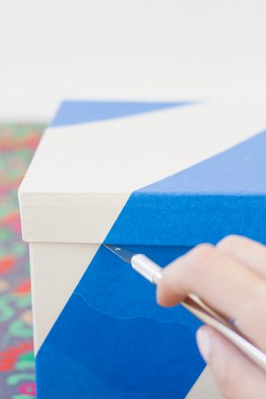 DIY Color Blocked Gift Boxes Step 2