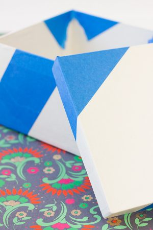 DIY Color Blocked Gift Boxes Step 3