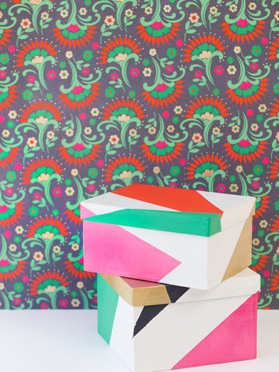 DIY Color Blocked Gift Boxes thumbnail