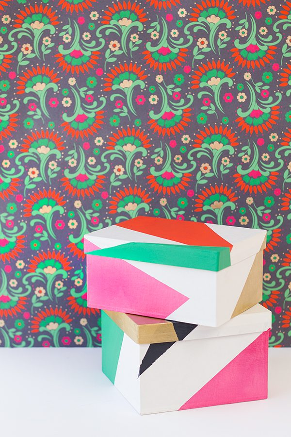 DIY Color Blocked Gift Boxes
