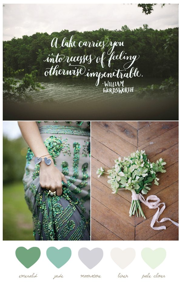 Emerald and Moonstone Color Palette