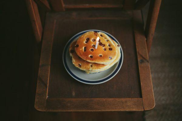 Pancakes + Birthday Candles