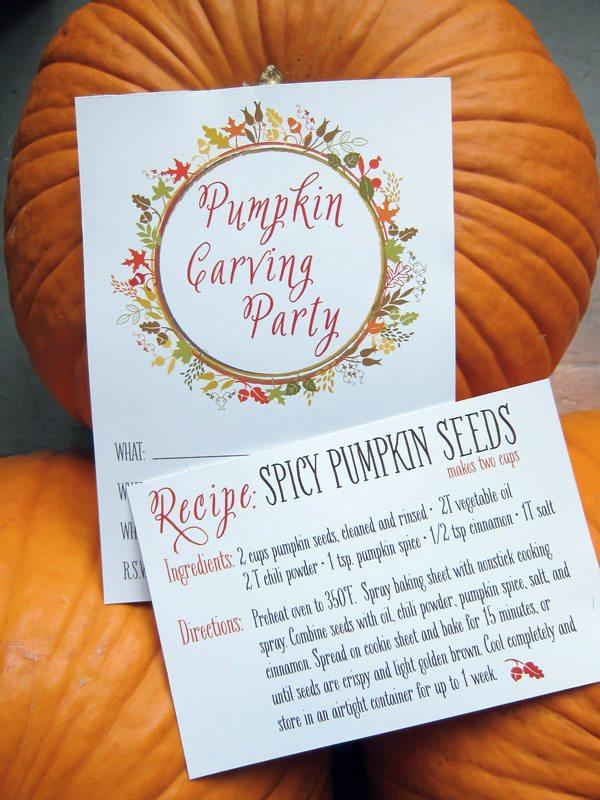 Pumpkin Carving Party Printables