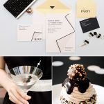 Color Palette: Blackout + Meringue