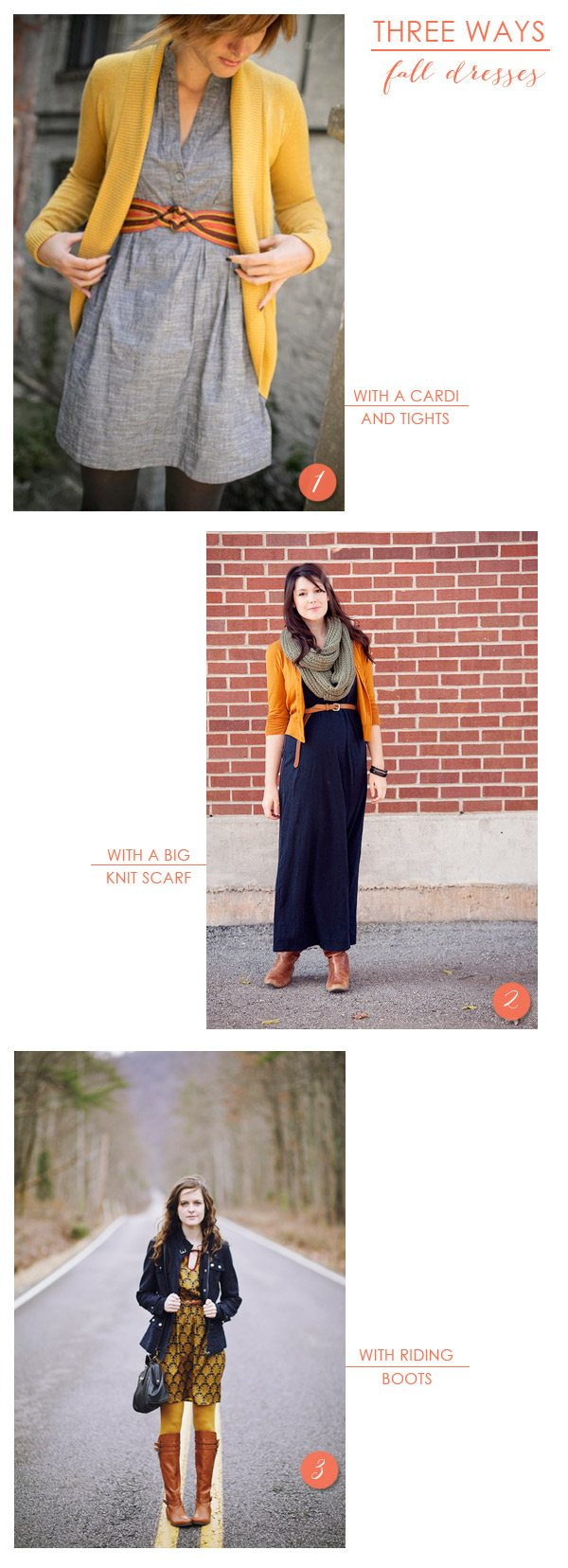3 Ways to Style a Dress for Fall