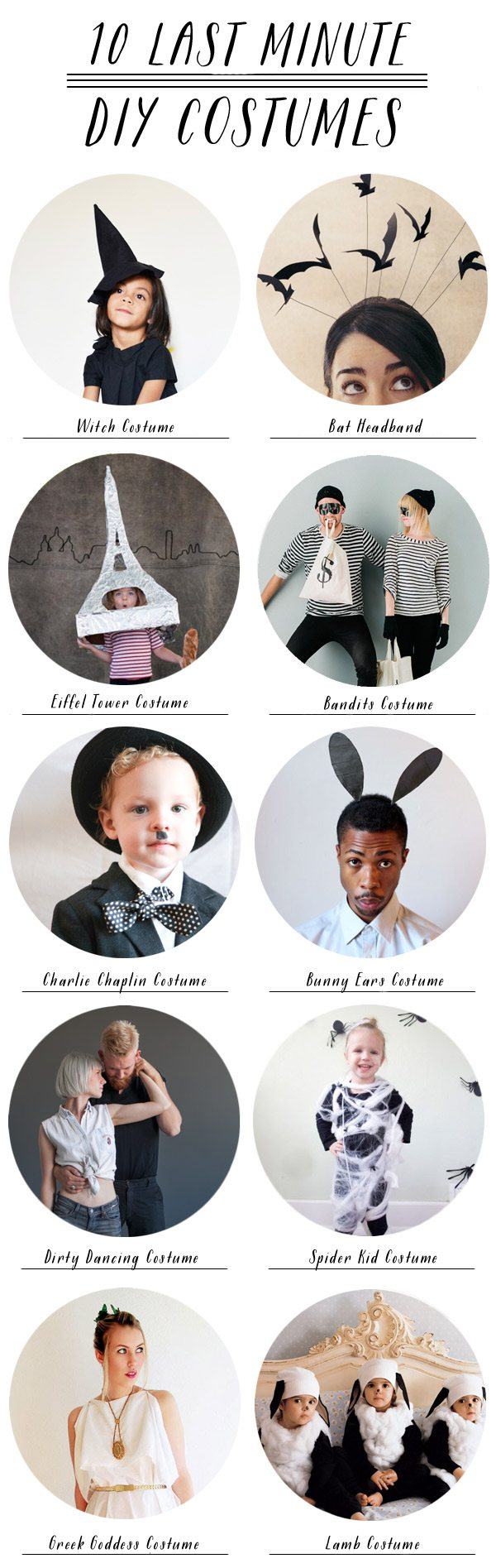 10 Last Minute Halloween Costumes from @cydconverse