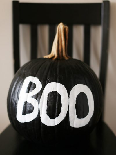 DIY Black + White Painted Pumpkin thumbnail