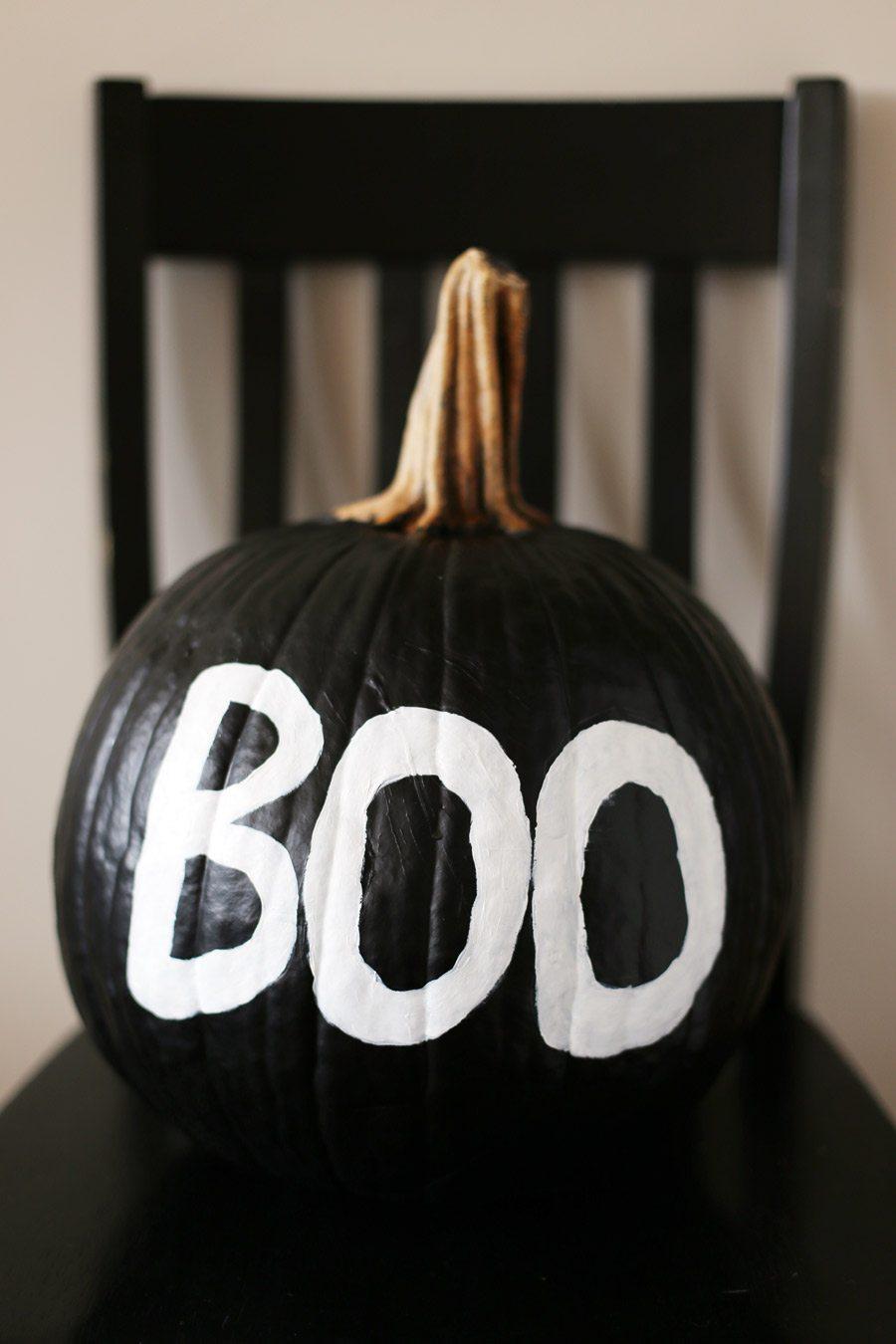 DIY Spooky Painted Pumpkin