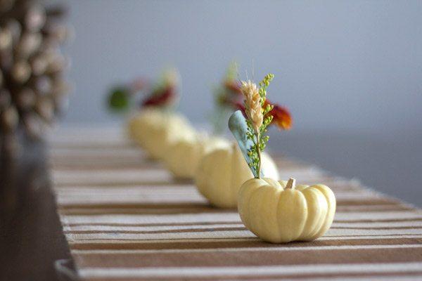 DIY Mini Pumpkin Centerpieces