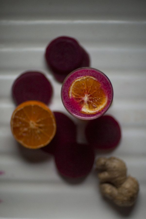Ginger Mandarin Beet Cocktail from @cydconverse