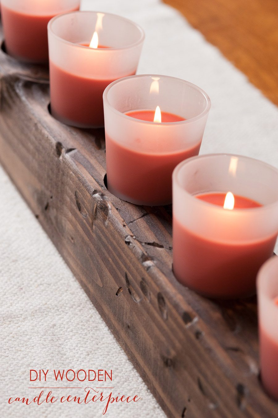 Diy Wooden Candle Centerpiece The Sweetest Occasion