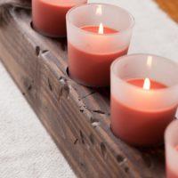 DIY Wooden Candle Centerpiece