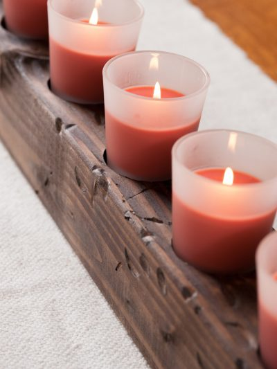 DIY Wooden Candle Centerpiece thumbnail