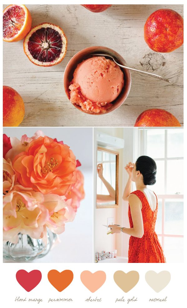 Color Palette: Blood Orange and Persimmon